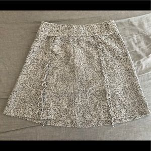 LOFT Speckled Fringe Skirt